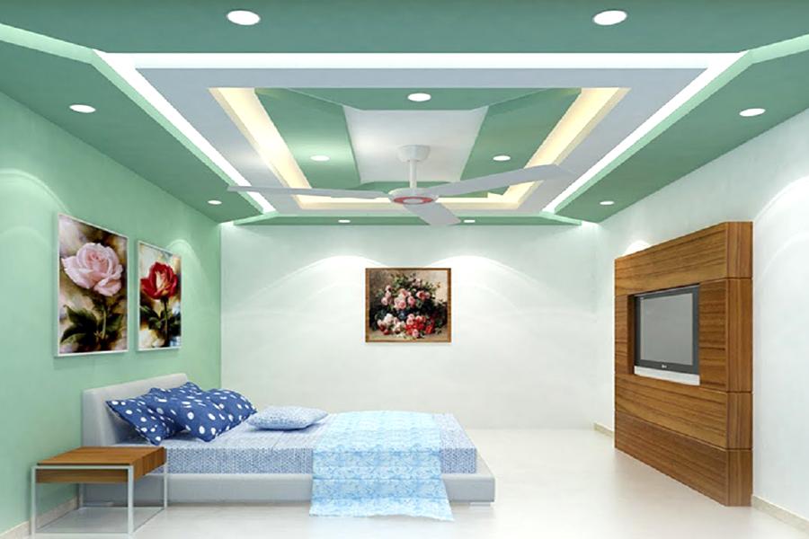 تصميمات مدهشة ل ديكورات الجبس لأسقف وحوائط غرف النوم والمعيشة